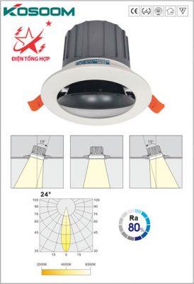 cấu tạo đèn led âm trần chiếu rọi Kosoom